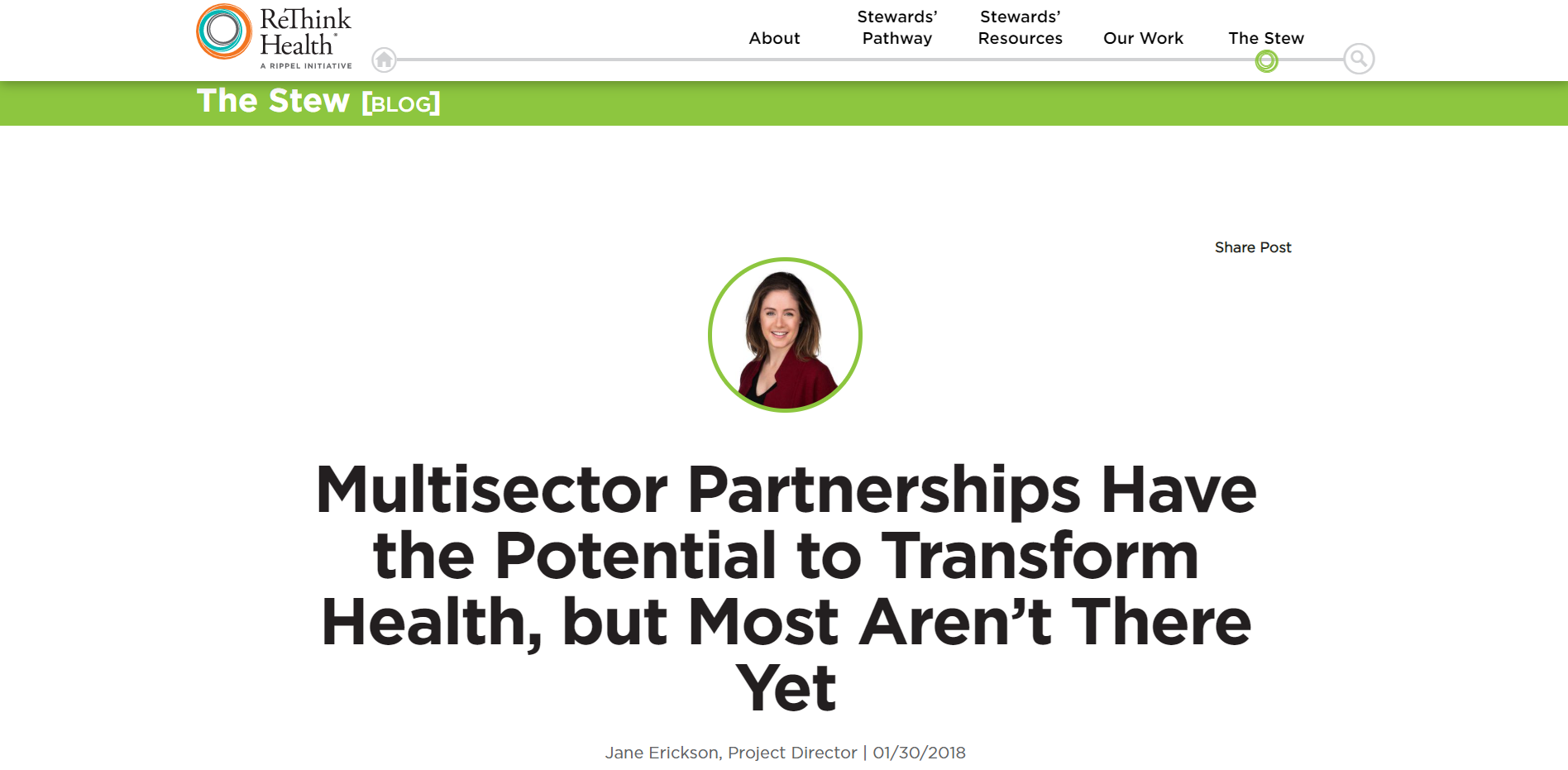 Multisector Partnerships Have the Potential to Transform Health, but Most Aren't There Yet