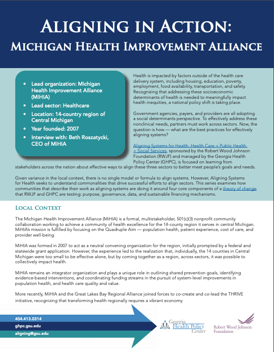 Aligning in Action: Michigan Health Improvement Alliance