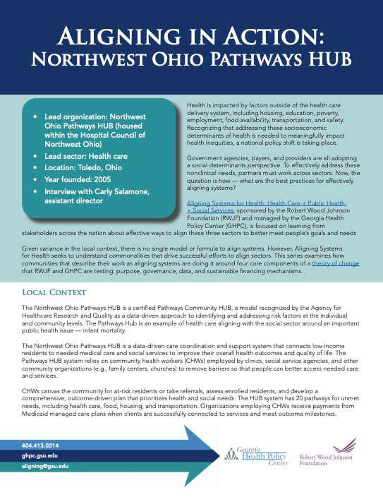 Aligning in Action: Northwest Ohio Pathways HUB