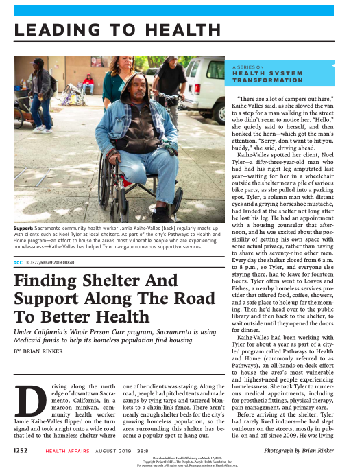 Finding Shelter and Support Along the Road to Better Health