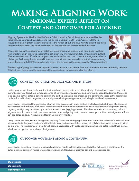 Making Aligning Work: National Experts Reflect on Context and Outcomes for Aligning