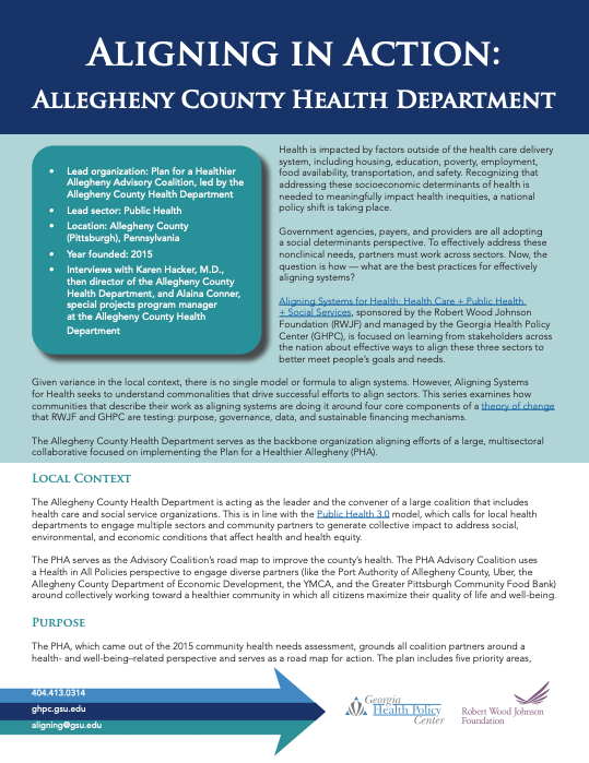 Aligning in Action: Allegheny County Health Department