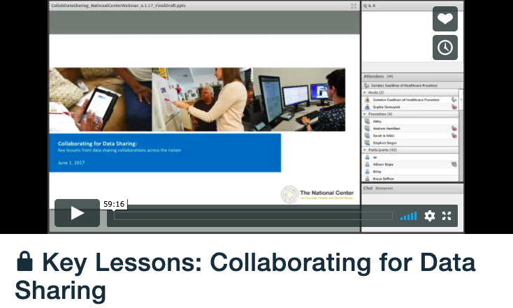 Key Lessons: Collaborating for Data Sharing