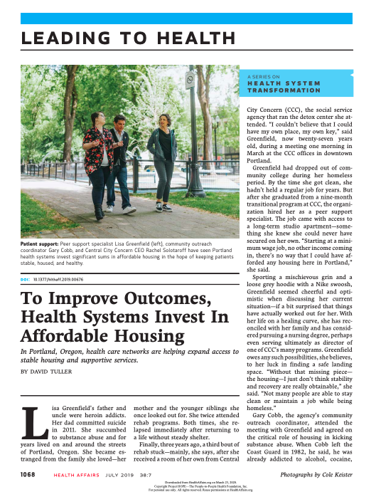 To Improve Outcomes, Health Systems Invest In Affordable Housing