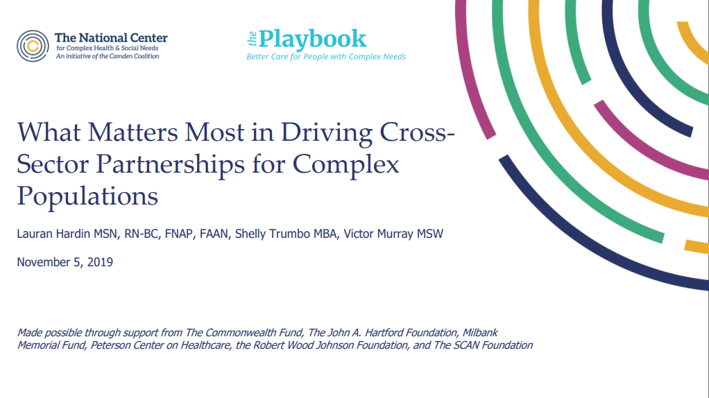 What Matters Most in Driving Cross-Sector Partnerships for Complex Populations