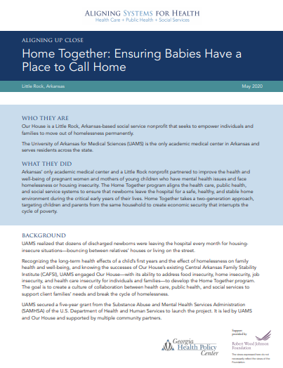 Home Together: Ensuring Babies Have a Place to Call Home