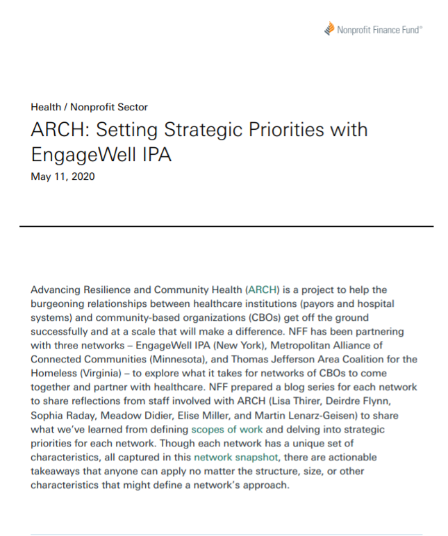 ARCH: Setting Strategic Priorities with EngageWell IPA