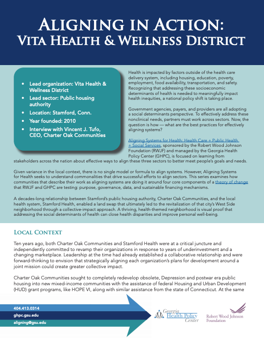 Aligning In Action: Vita Health & Wellness District