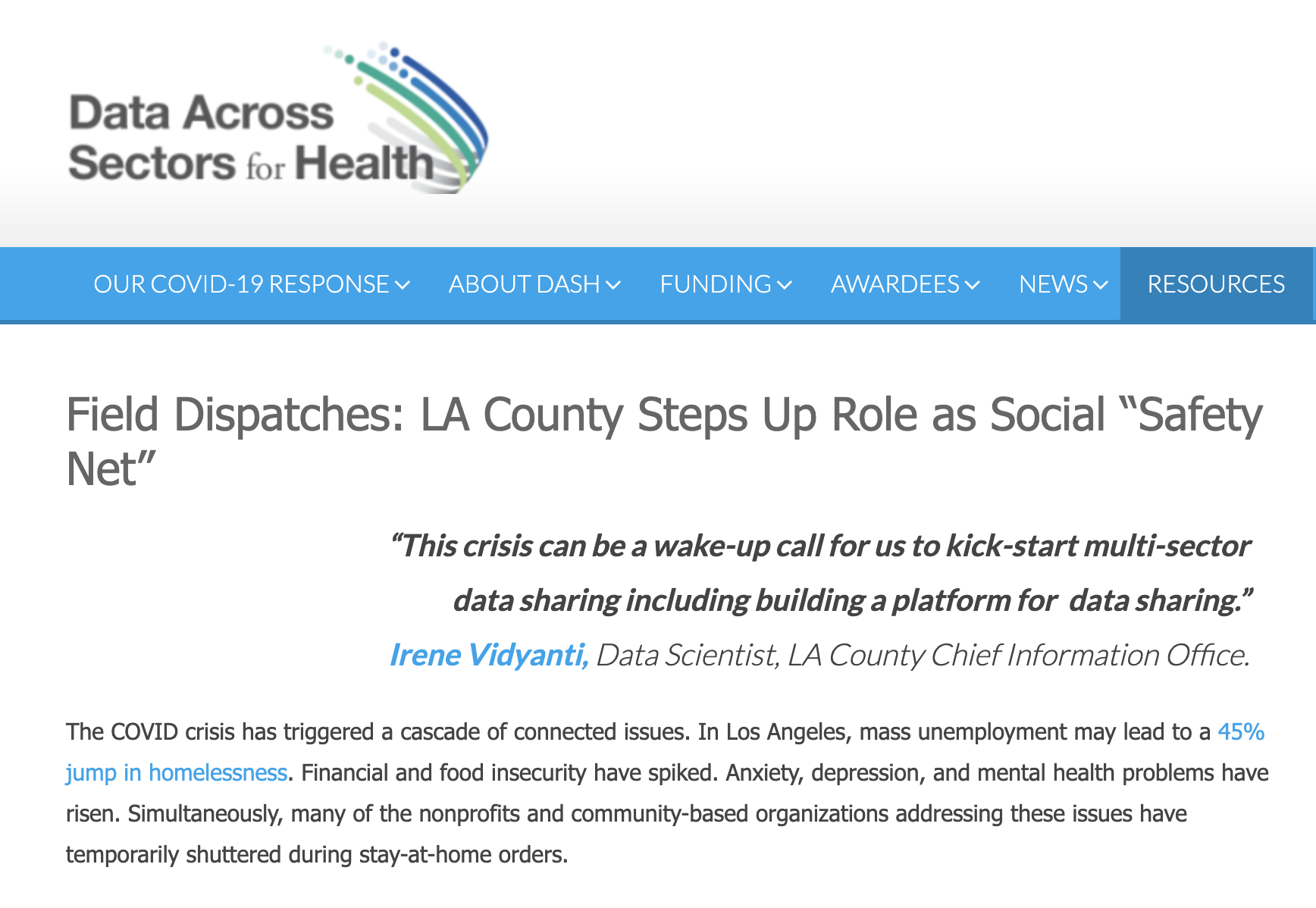 """Field Dispatches: LA County Steps Up Role as Social """"Safety Net"""""""