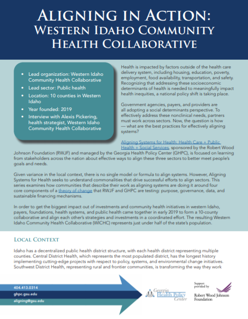 Aligning In Action: Western Idaho Community Health Collaborative