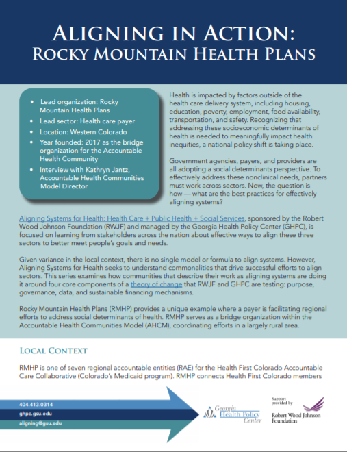 Aligning in Action Rocky Mountain Health Plan