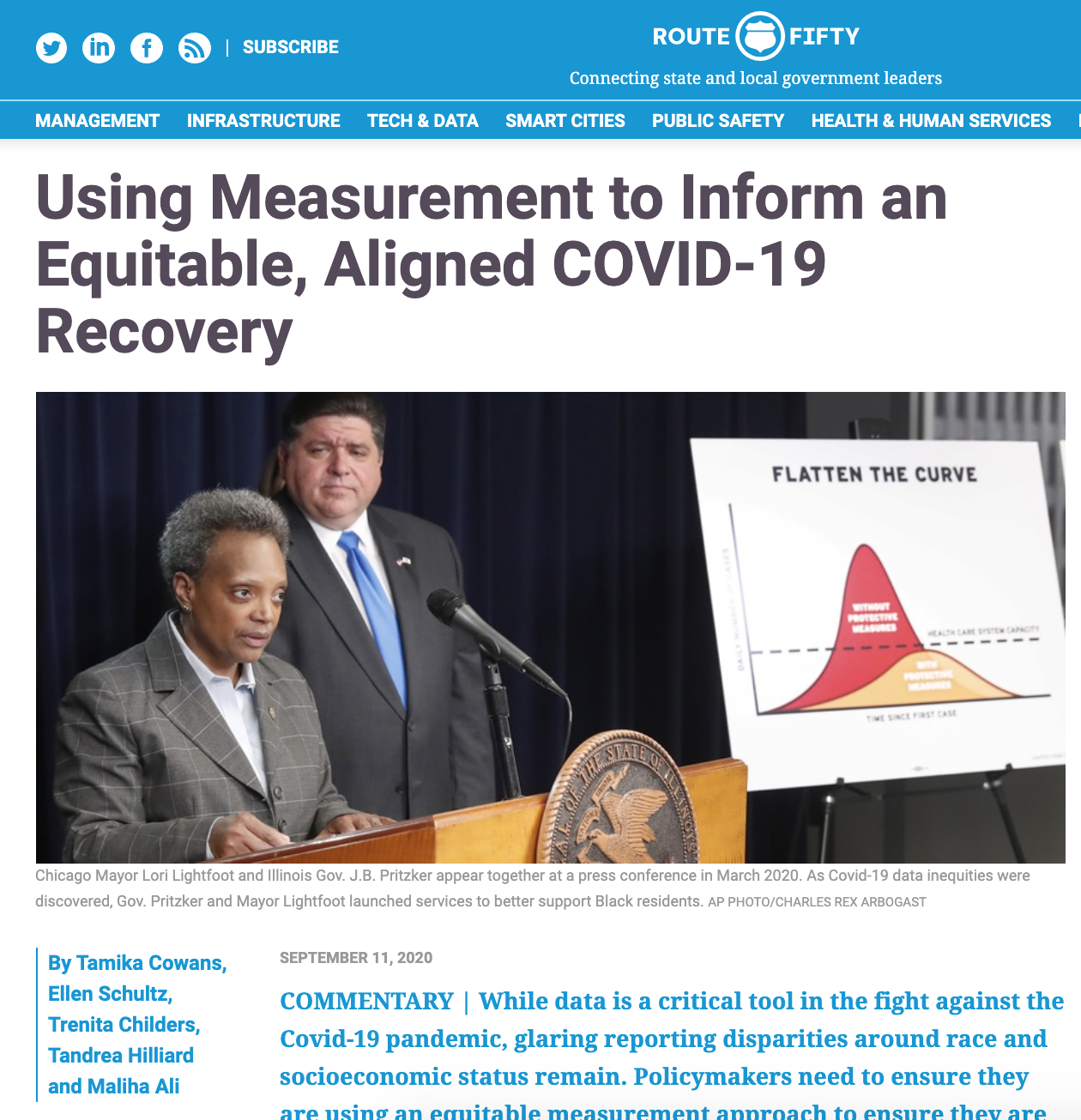 Route Fifty Article on Measurement
