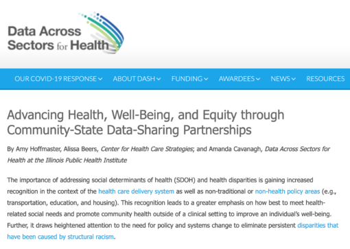 Advancing Health, Well-Being, and Equity through Community-State Data-Sharing Partnerships