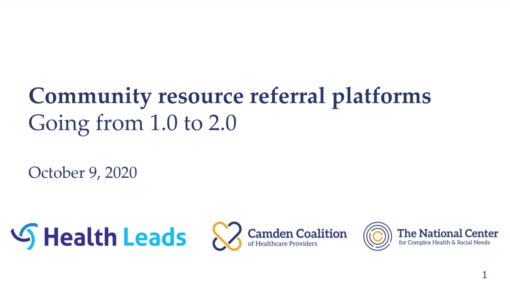Community resource referral platforms