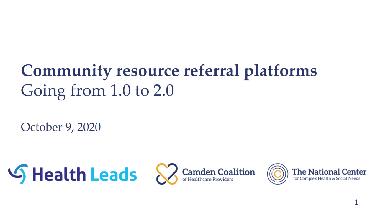 Community resource referral platforms