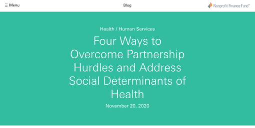 Four Ways to Overcome Partnership Hurdles and Address Social Determinants of Health