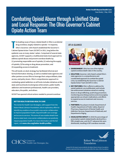 Combating Opioid Abuse Through a Unified State and Local Response