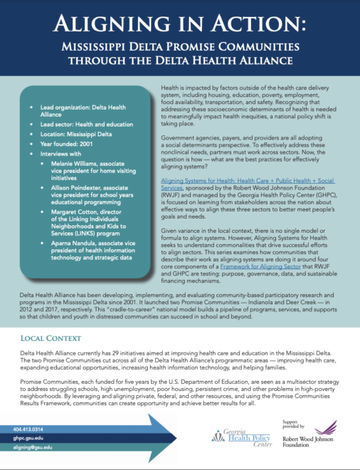 Aligning in Action: Mississippi Delta Promise Communities through the Delta Health Alliance