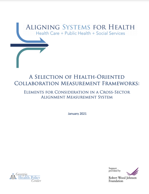 A Selection of Health-Oriented Collaboration Measurement Frameworks: Elements for Consideration in a Cross-Sector Alignment Measurement System