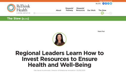 Regional Leaders Learn How to Invest Resources to Ensure Health and Well-Being
