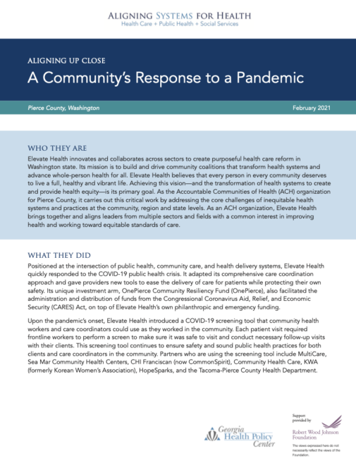 Aligning Up Close: A Community's Response to a Pandemic
