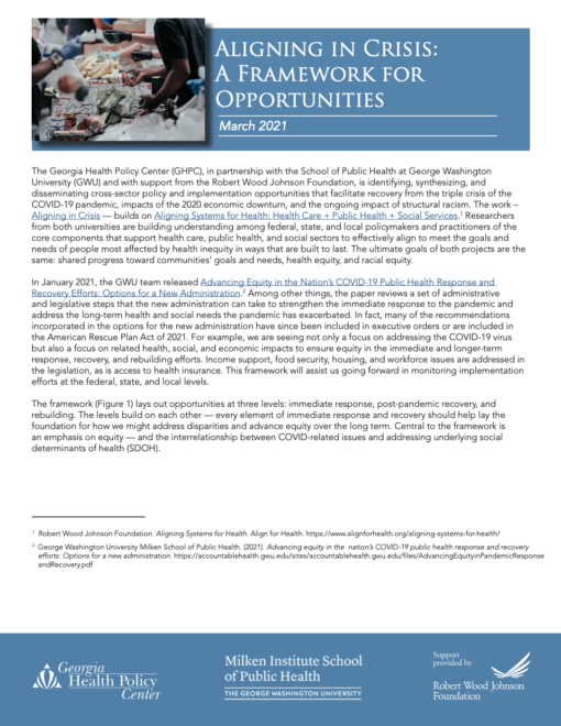 Aligning in Crisis: A Framework for Opportunity