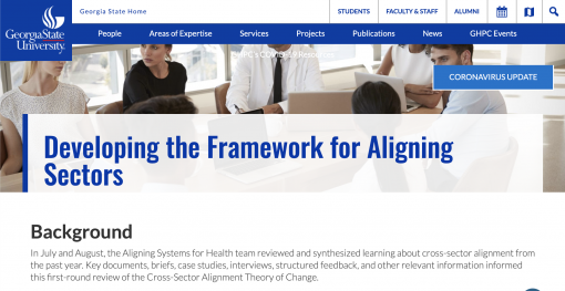 Developing the Framework for Aligning Sectors