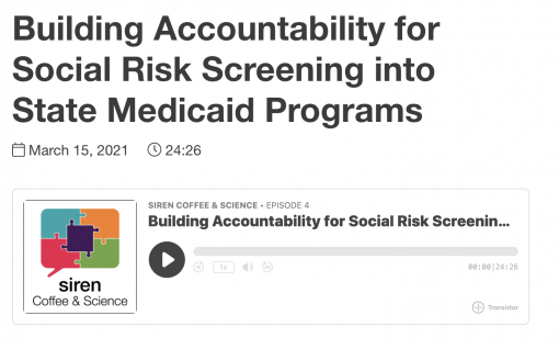 Building Accountability for Social Risk Screening into State Medicaid Programs