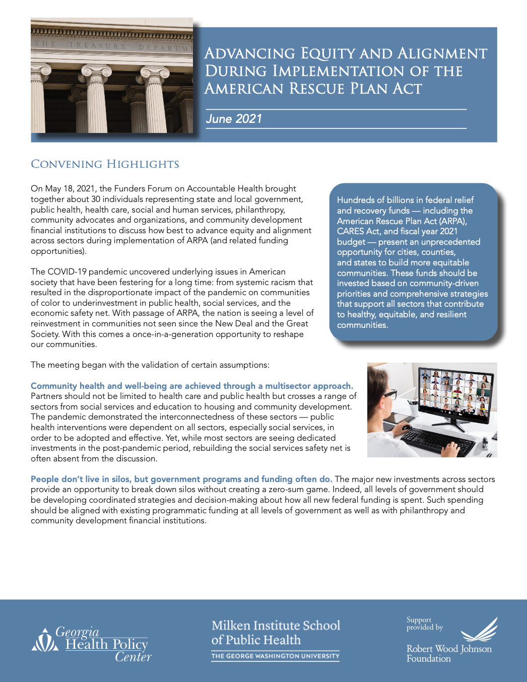 Advancing Equity and Alignment During Implementation of the American Rescue Plan Act