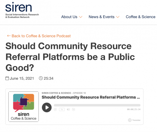 Should Community Resource Referral Platforms be a Public Good?