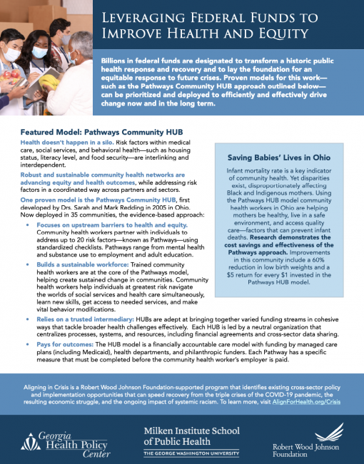 Leveraging Federal Funds to Improve Health and Equity: Pathways Community HUB Model