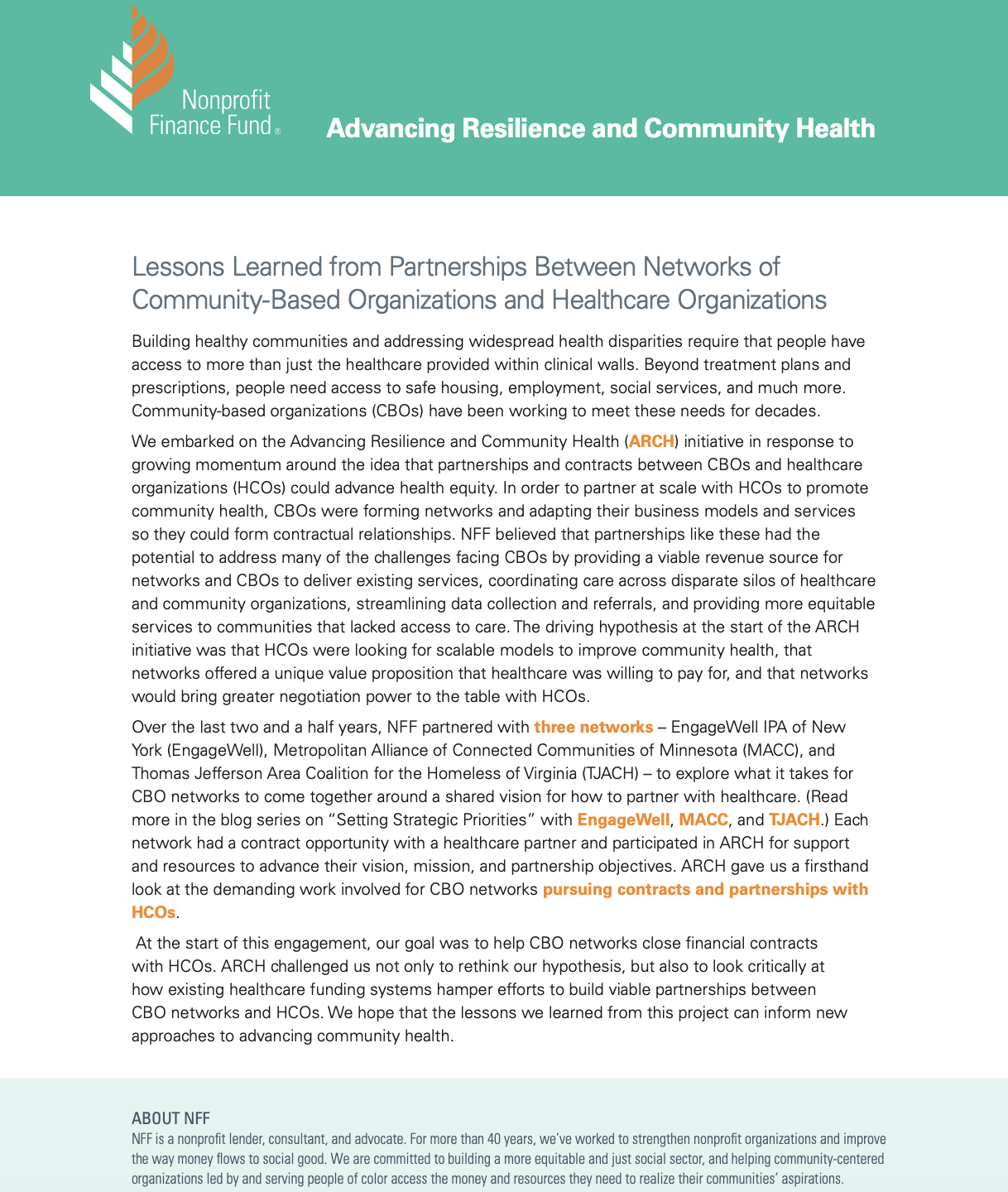 Lessons Learned from Partnerships Between Networks of Community-Based Organizations and Health Care Organizations