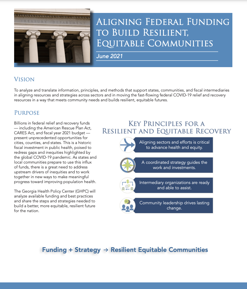 Aligning Federal Funding to Build Resilient, Equitable Communities