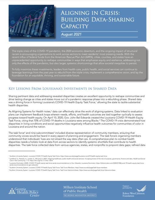 Aligning in Crisis: Building Data-Sharing Capacity