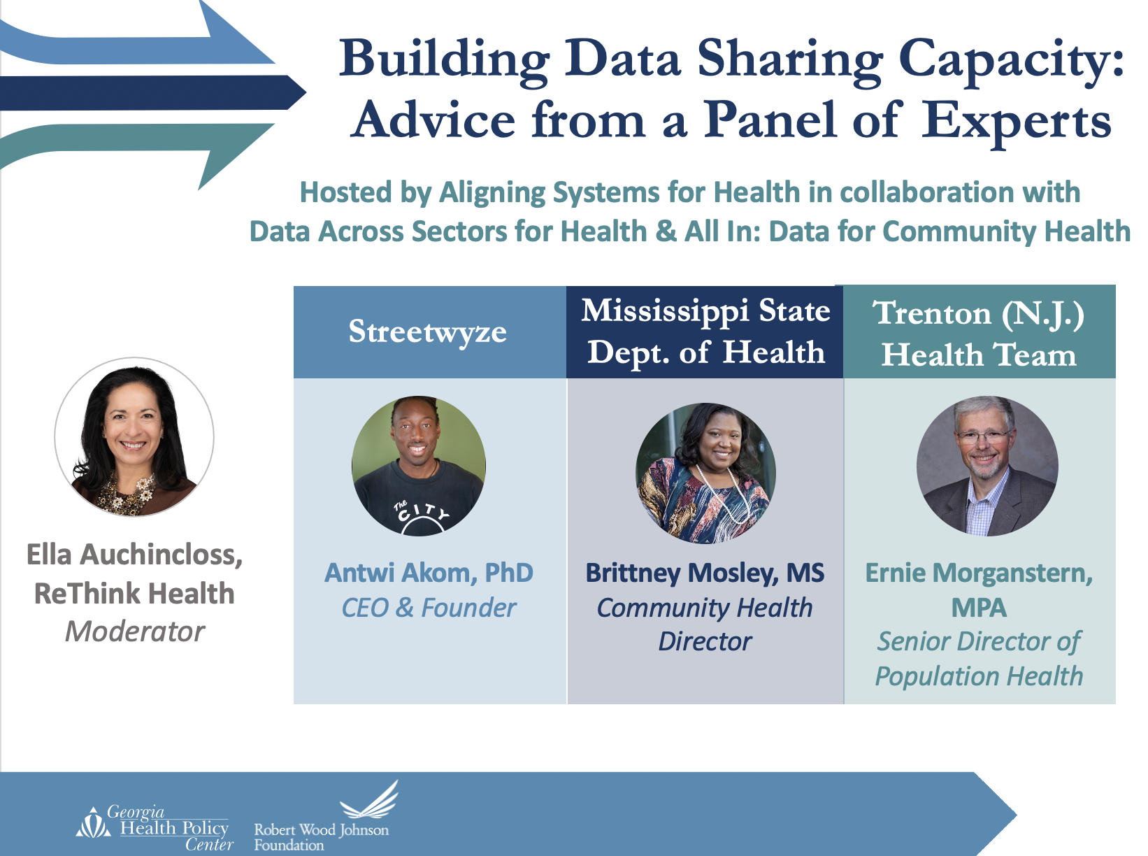 Building Data Sharing Capacity: Advice from a Panel of Experts