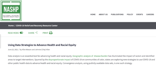 Using Data Strategies to Advance Health and Racial Equity